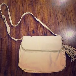 Cream Colored Purse with Adjustable Strap